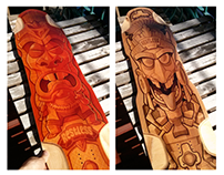 Restless Longboards: Tiki & Aztec Designs
