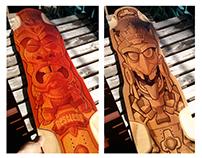 Restless Longboards: Tiki & Aztec Designs