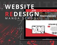 Webdesign rework - Manga School