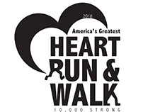 Logo design- America's Greatest Heart Run & Walk