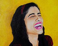 "Self-Portrait ""Laugh at life"""