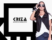 Kriza - designers wear | landing page design