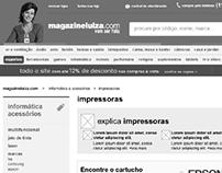 UX - Configurador de Cartuchos - Magazine Luiza
