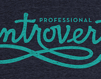 Professional Introvert CottonBureau T-shirt