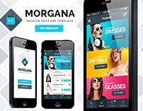 Morgana Fashion Shop - PSD App Template