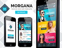 Morgana Fashion Shop - PSD App Template