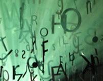 """Typographic instalation """"Typo Noise"""""""