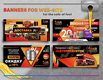 Banners for web-site for the sale of fuel