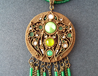 """Ethnic pendant """"Forest and wood"""""""
