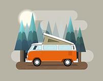 VW Bus illustrations