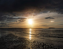 Sunset on the North Wales Coast