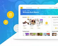 Event App - Dashboard design for event planning app