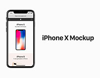 iPhone X PSD Mockup Free Download