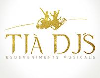 Proyecto logotipo y diseño Tià Dj´s