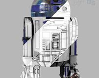 3D Model R2D2 Layers