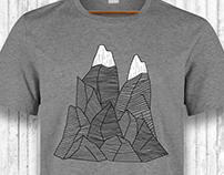 Mountains T-shirt Design