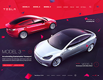 Tesla Website Concept
