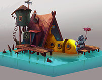 Strange fishermans house