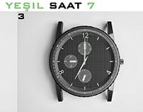 Kolsuz Yeşil Saat 7 / Sleeveless Green Clock 7