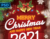 Christmas Greeting Flyer - PSD Template