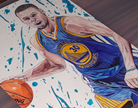 Stephen Curry Pen Drawing