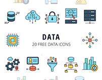 Data Vector Free Icon Set