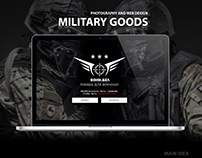 Photography and web design for Military Goods Shop