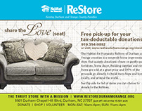 Habitat ReStore postcard and in-store signage