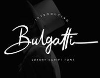 Bulgatti Luxury Script Font