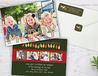 Foil pressed holiday card & matching address labels