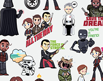 Star Wars Rogue One: Digital Stickers