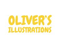 Oliver's minimalist illustrations