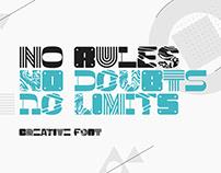 No Rules creative font