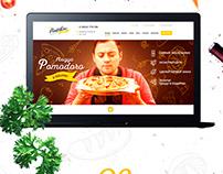 The design of the landing network of pizzerias Pomodoro