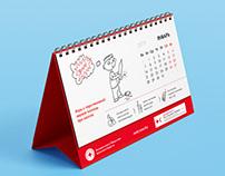 Calendar for Red Cross