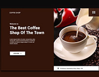Coffee Shop Landing Page (Header Part)