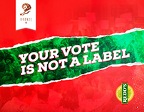 Your Vote is Not a Label / Bronze - Cannes Young Lions