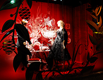 hudson's bay: give christmas windows