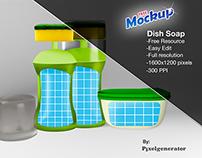Free Mockup Dish Soap