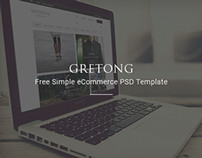Gretong - Free Simple eCommerce PSD Template