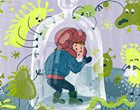 Flu Season - editorial illustration