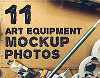 Art Equipment Mockup Photos