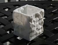 Low Poly Print Series - Rectangle Vase