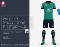 Men's Full Soccer Team Kit Mockup V6
