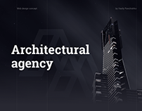 Architectural agency web design concept