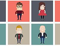 Flat Characters | Illustration