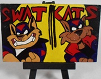 Swat Kats Mini Wood Painting