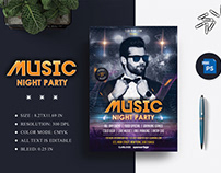 Music Night Party Flyer Design