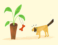 Plant+dog texure