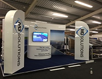 M3 Solutions Advertising Stand